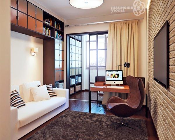 идеи дизайна для узкой гостиной