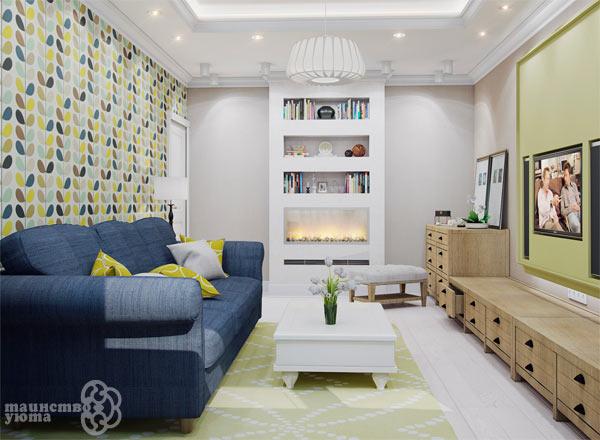 идеи для интерьера маленькой гостиной