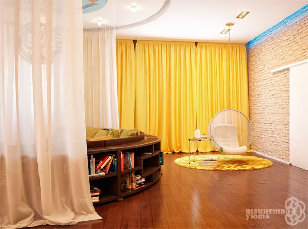свойства желтого цвета в дизайне интерьера