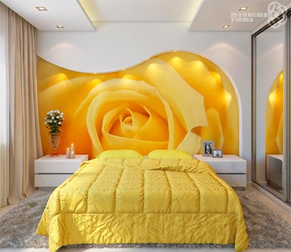 оригинальный интерьер в желтом цвете