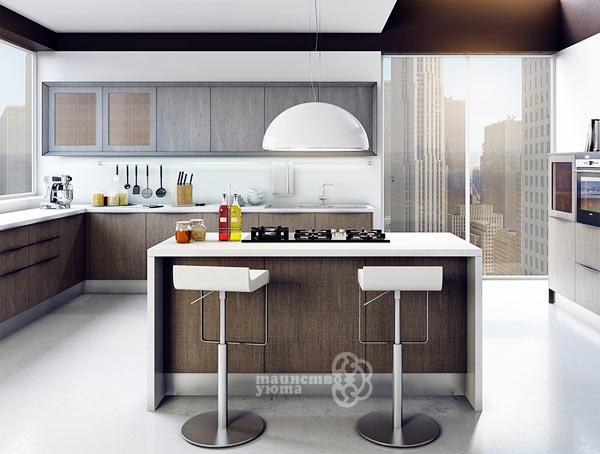 большая кухня с островом дизайн