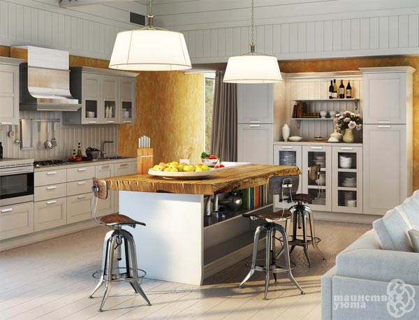 остров на кухне как кухонный стол