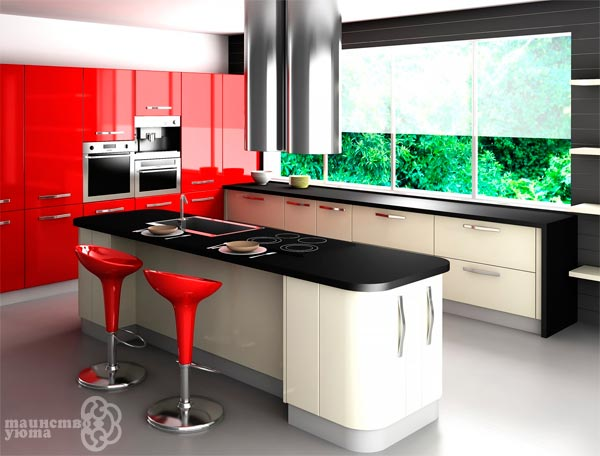 многофункциональный кухонный остров фото