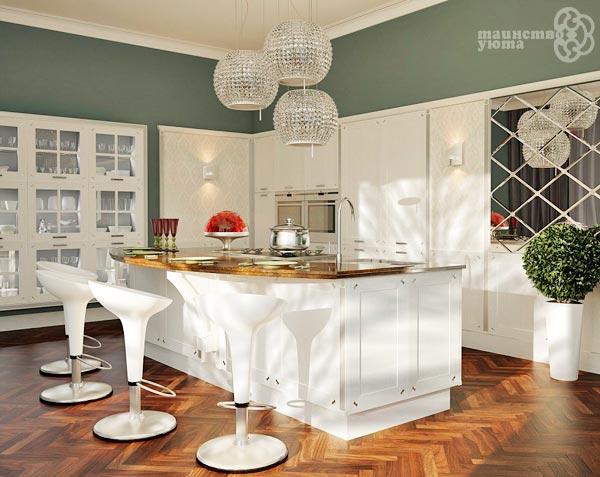 варианты дизайна кухонного острова фото