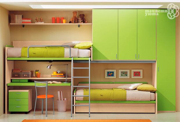 маленькая детская комната для двоих