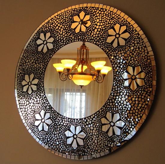 украшение мозаикой зеркала фото