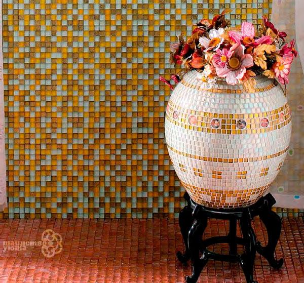 декорирование мозаикой предметов интерьера