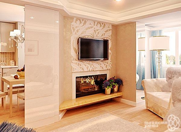 Телевизор над камином в интерьере фото