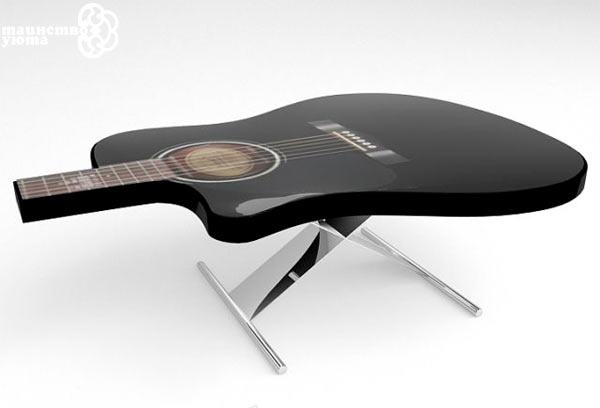 журнальній столик в виде гитары фото