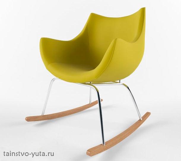 маленькое современное кресло качалка