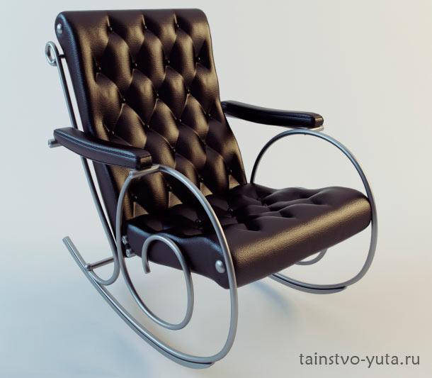 кожанное кресло качалка