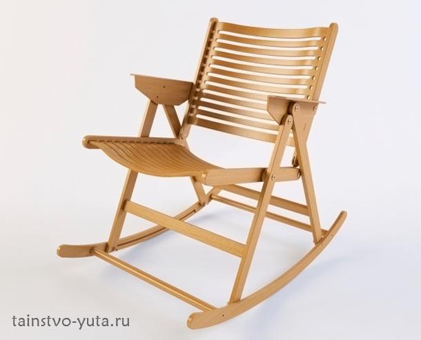 деревянное кресло качалка фото
