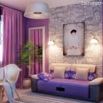 Почему дизайн комнаты в фиолетовых тонах большая редкость