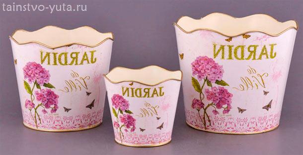 горшки для цветов как элемент декора