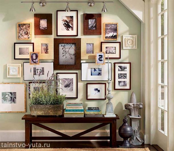 декор стен картинами
