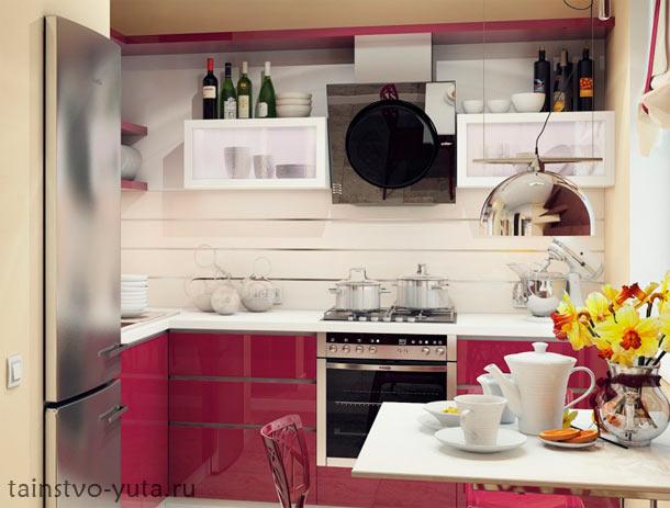 цветовая гамма для маленькой кухни