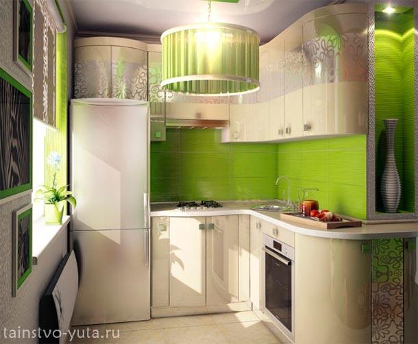 маленькая кухня варианты расположение мебели
