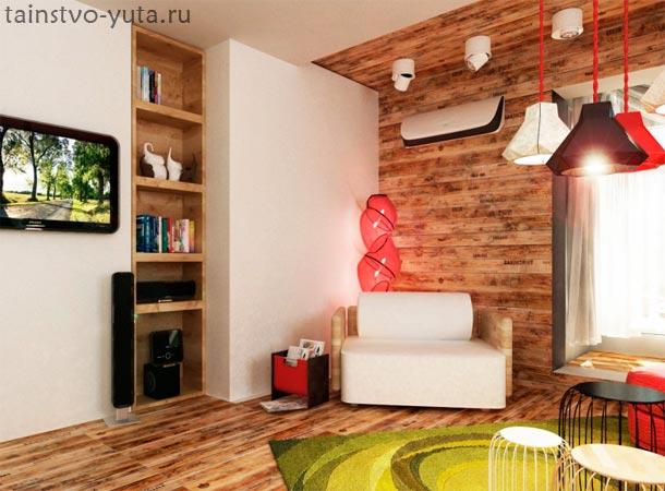 ламинат на стенах фото