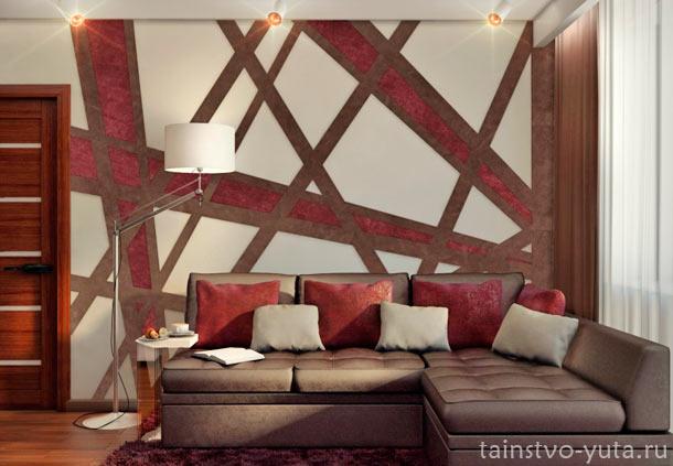 как декорировать стену над диваном
