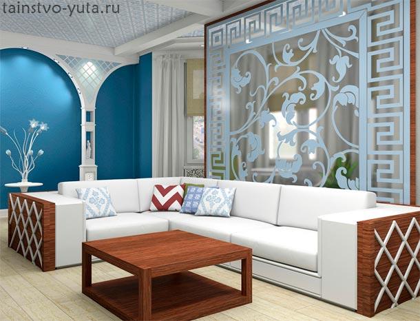 оригинально оформить стену над диваном