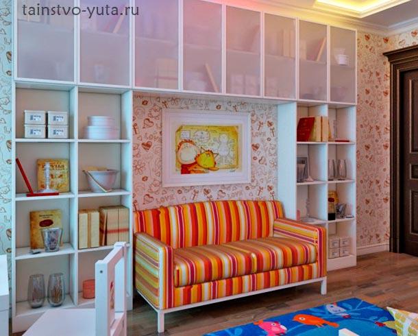 стена над диваном фото
