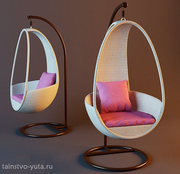 кресло качалка подвесное фото