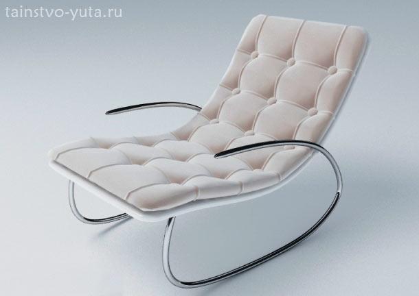 кресла качалка на металлическом каркасе