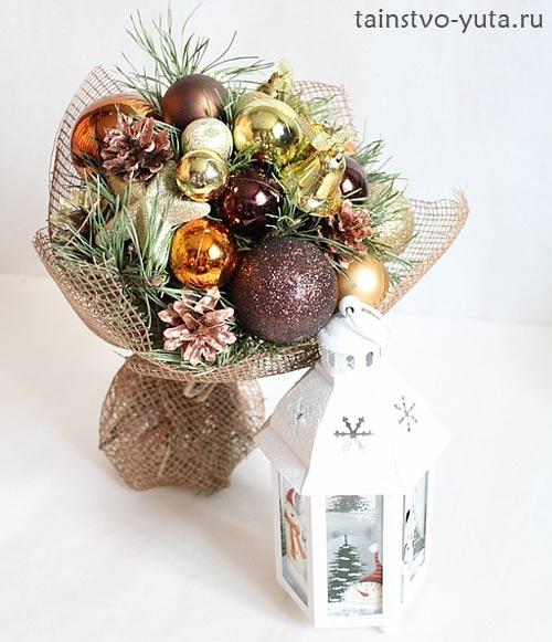 новогодний букет из шаров