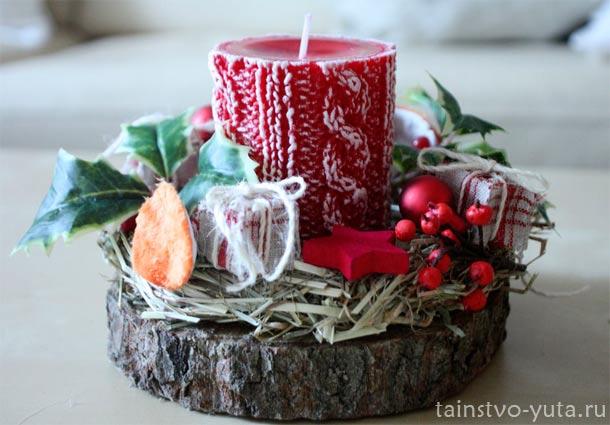свечка на новый год