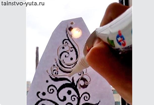 пошаговое руководство по новогодней росписи окна