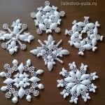 Снежинки из макарон своими руками - подробный мастер класс