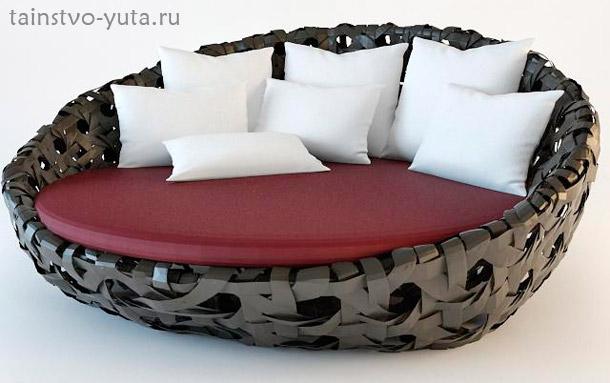 круглый диван для двоих