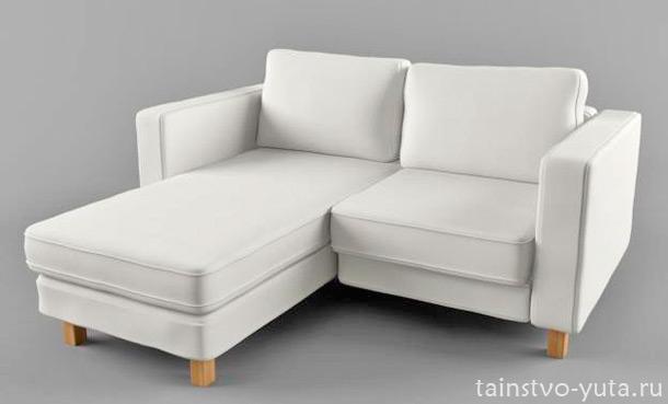 угловой двухместный диван
