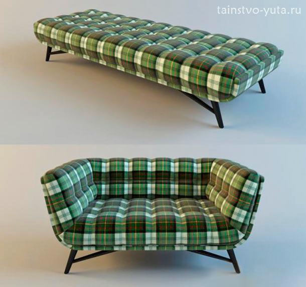 раскладной маленький диван