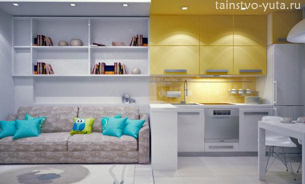 кухня совместная с гостиной фото