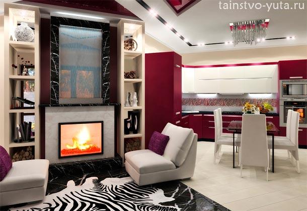 зонирование кухни и гостиной фото