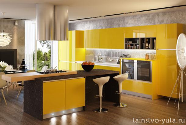 большие кухонные гарнитуры