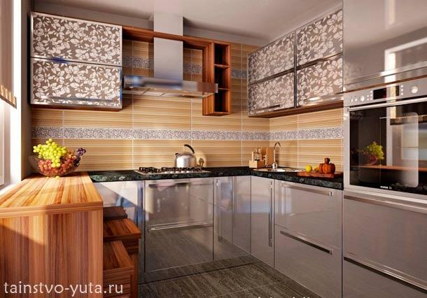 угловой кухонный гарнитур фото