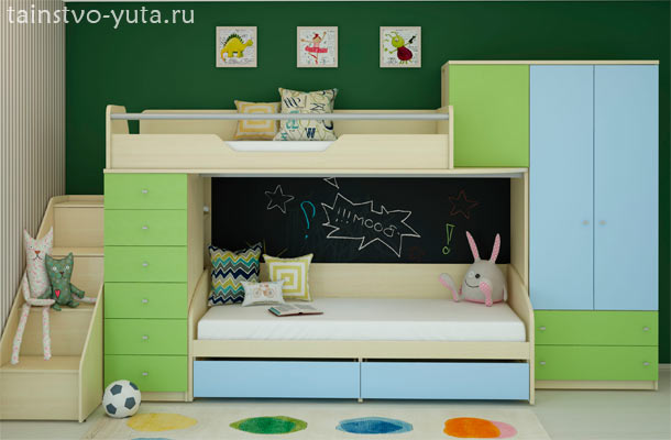 модульная система хранения в детской