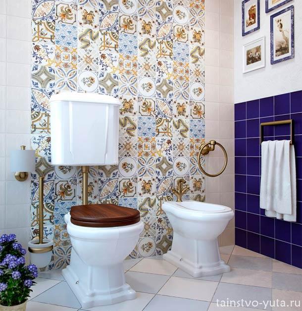 дизайн стен туалета
