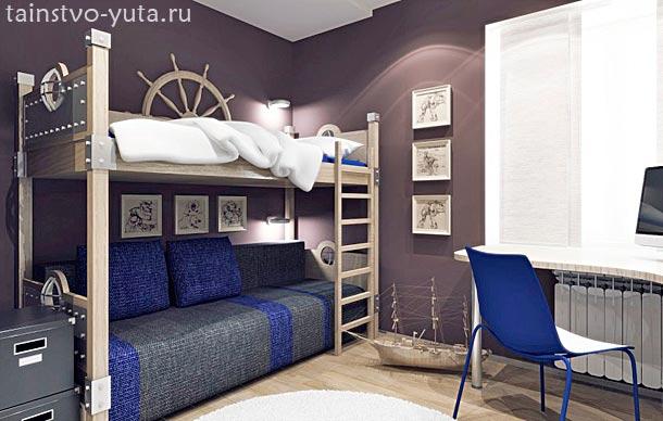 интерьер комнаты мальчика подростка фото