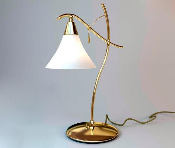 настольная лампа со стекляным абажуром