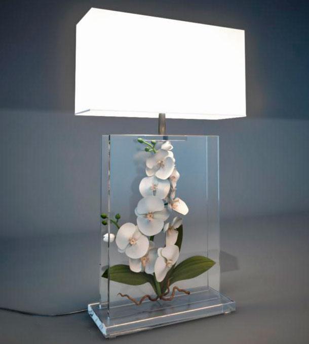 настольная лампа флористика