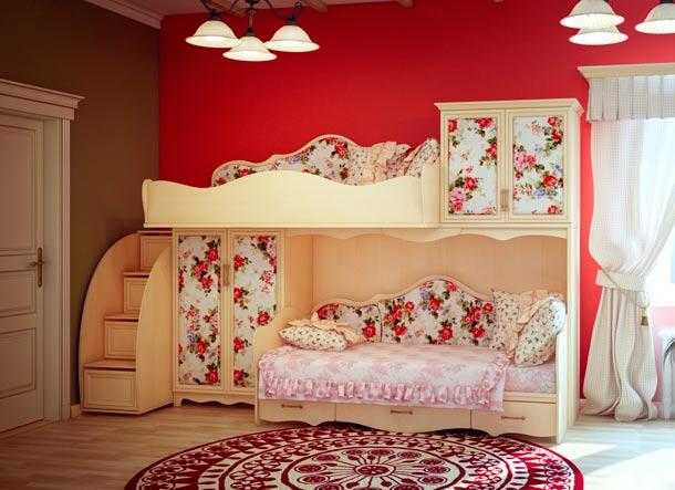 цветочный орнамент на мебели