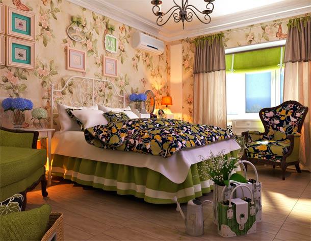 Цветочный онамент на стенах