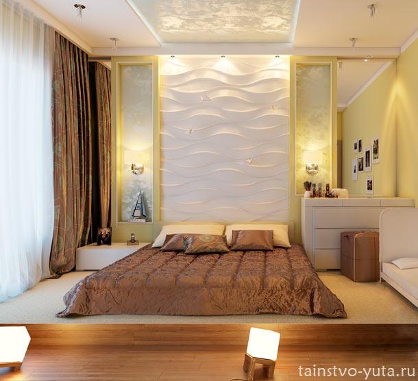 подиум в зизайне спальни