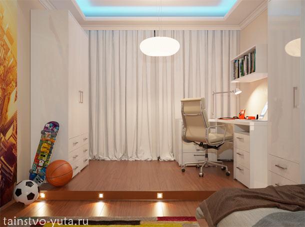дизайн комнаты с подиумом фото
