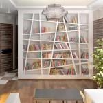 Интерьер домашней библиотеки + идеи размещения книг