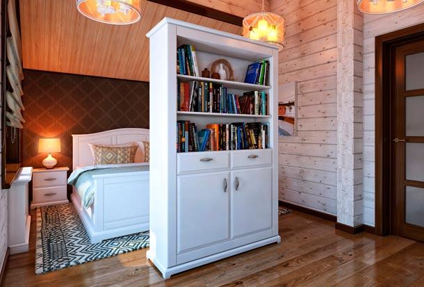 шкаф для книг в интерьере