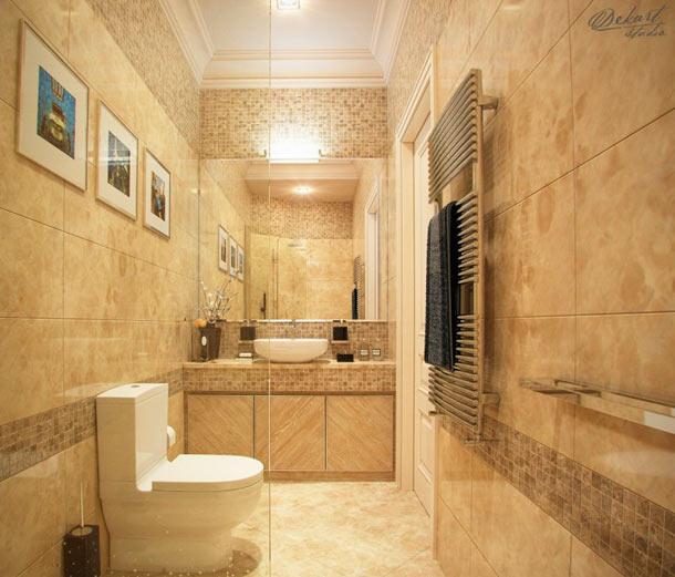Бежевый туалет дизайн